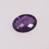 améthyste ovale violet foncé
