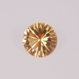 citrine taille rond concave