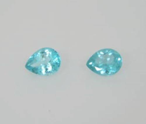 paire d'apatites bleues