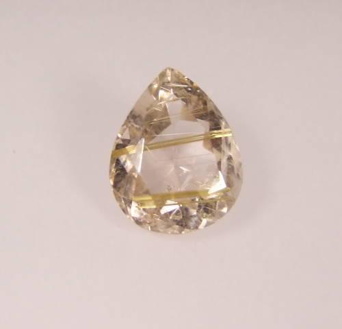 quartz rutile facetté taille poire