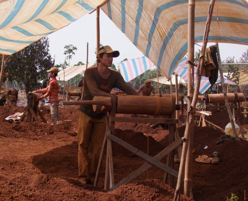 mine de la région de Banlung au Cambodge
