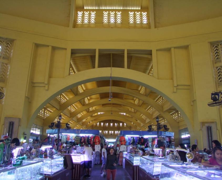Le vieux marché de Phnom Peng