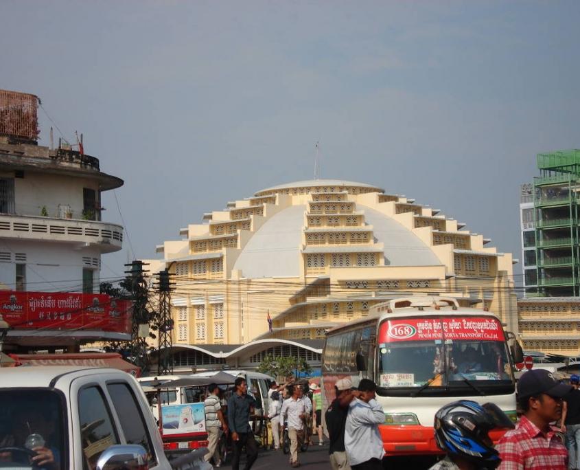 Mes voyages au Cambodge - le marché central de Phnom Peng